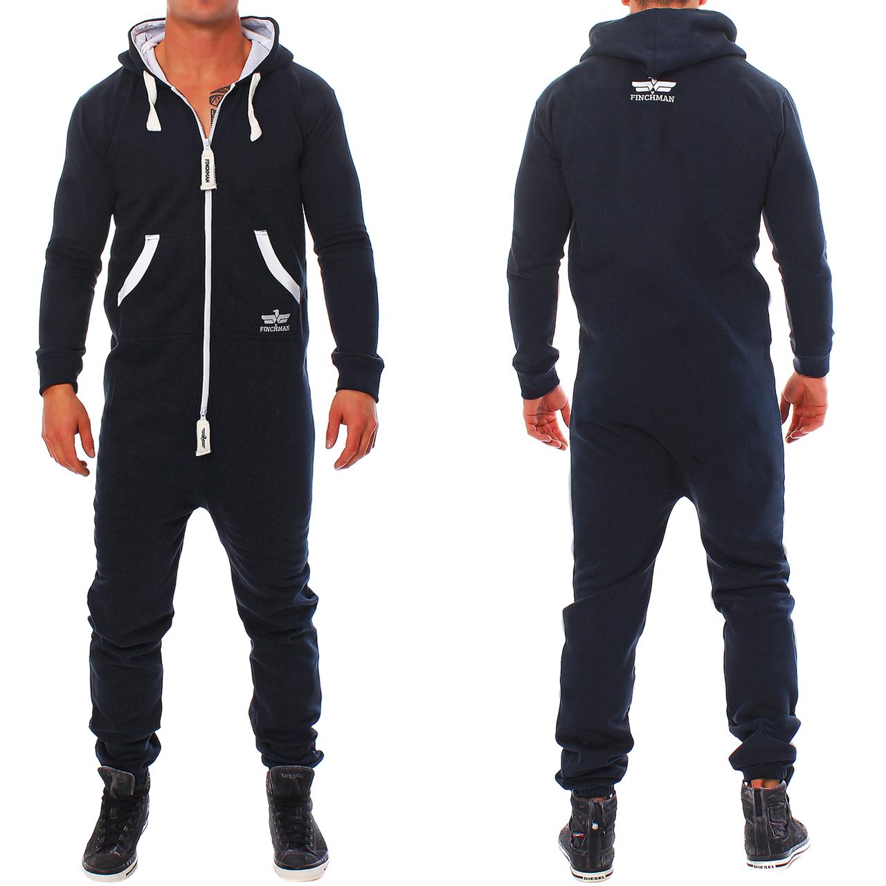 finchman herren jumpsuit jogger jogging anzug trainingsanzug overall. Black Bedroom Furniture Sets. Home Design Ideas