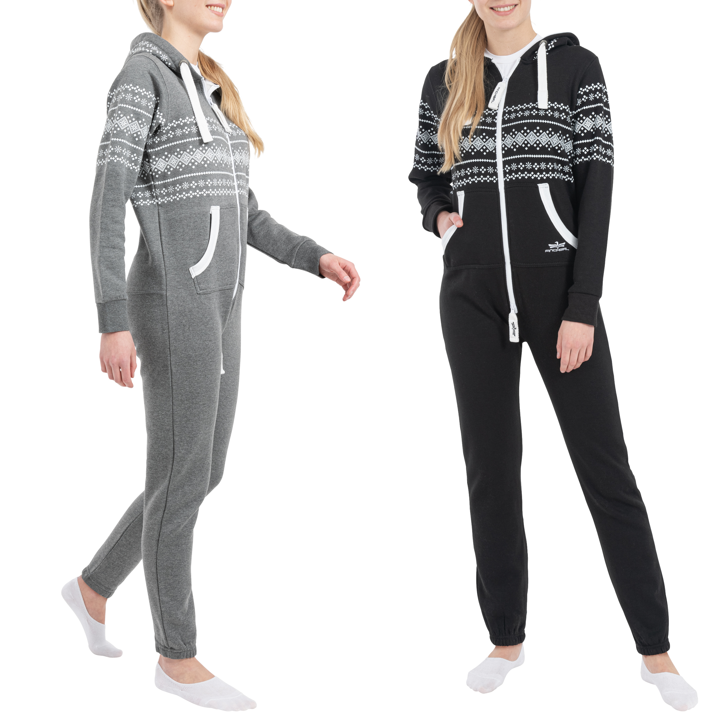 finchgirl azteken muster damen jumpsuit overall jogging training anzug einteiler ebay. Black Bedroom Furniture Sets. Home Design Ideas