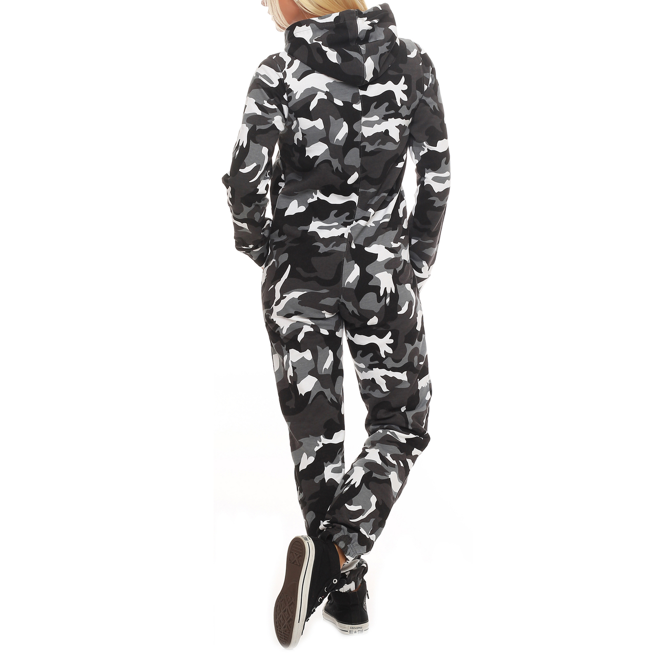 finchgirl camouflage damen jumpsuit jogger einteiler. Black Bedroom Furniture Sets. Home Design Ideas