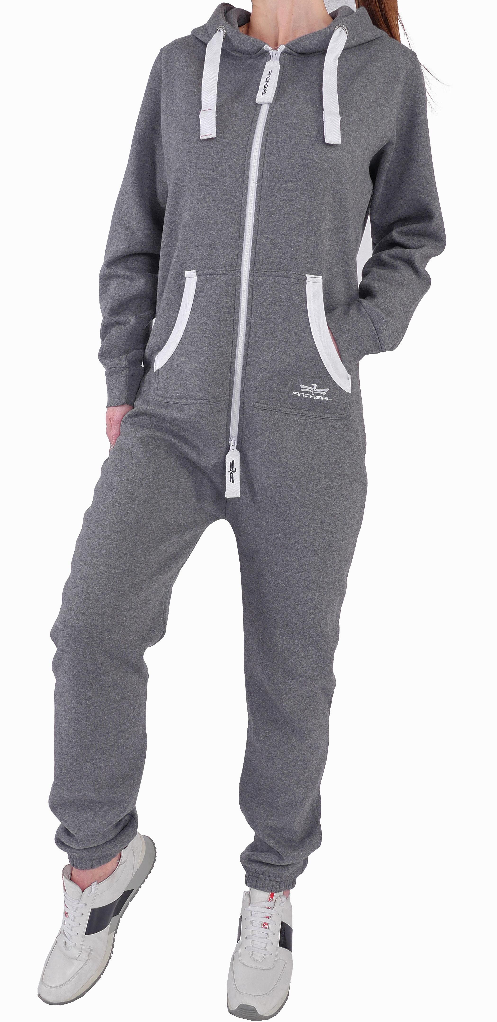 finchgirl damen jumpsuit jogger einteiler jogging anzug trainingsanzug overall ebay. Black Bedroom Furniture Sets. Home Design Ideas