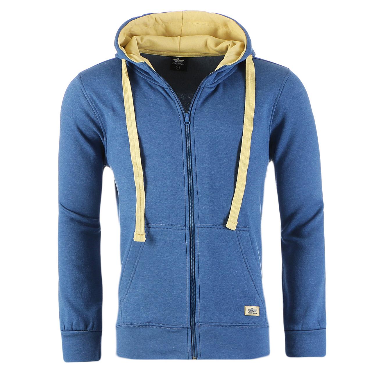 944cb8c5274f Finchman Herren Jacke Sweatshirt Hoodie Full Zip Kapuzen Pullover ...