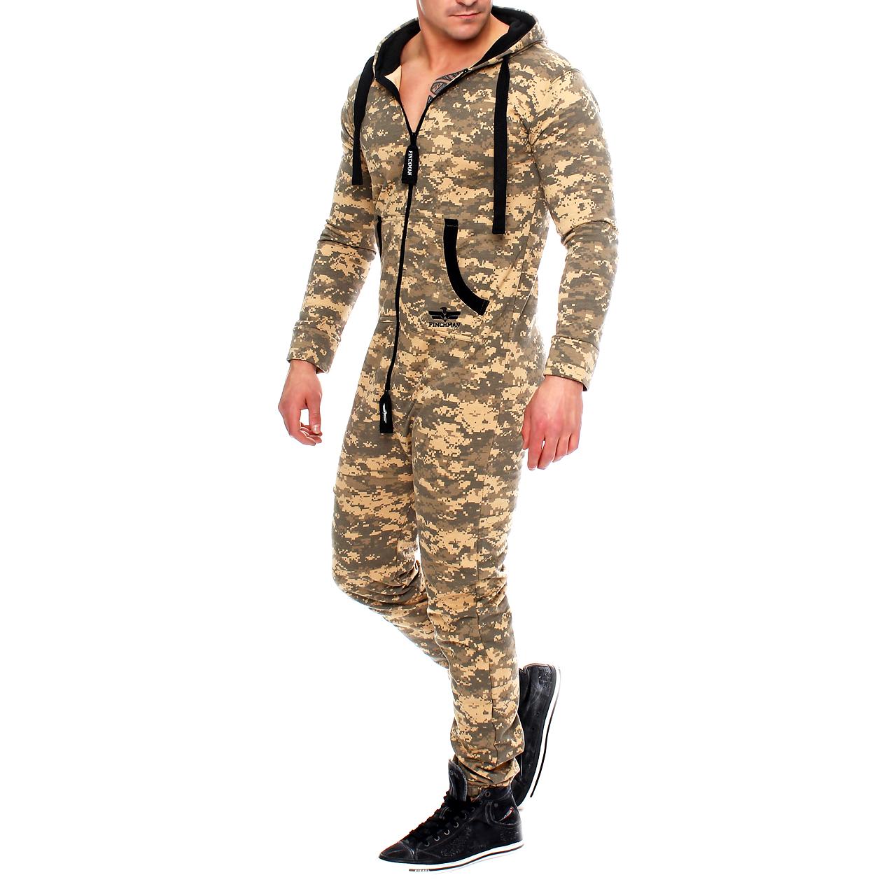 finchman herren camouflage jumpsuit jogger jogging anzug. Black Bedroom Furniture Sets. Home Design Ideas