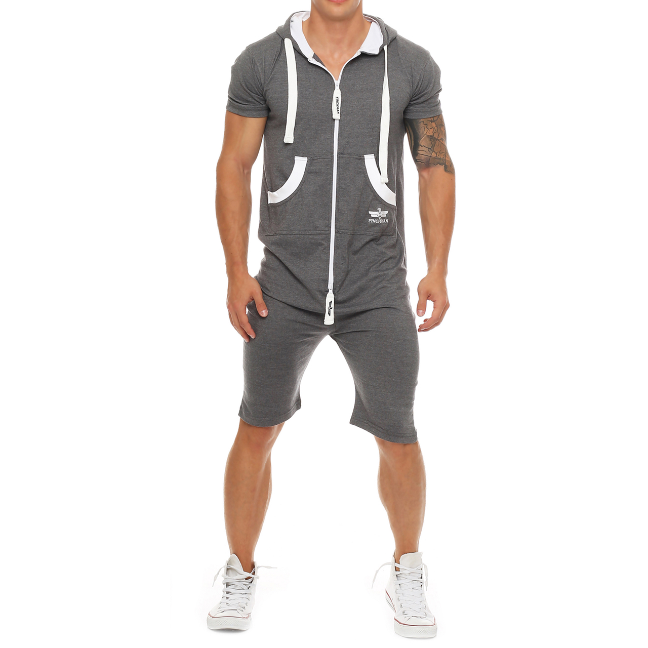 finchman herren sommerjumpsuit kurz anzug overall onesie jumpsuit camouflage ebay. Black Bedroom Furniture Sets. Home Design Ideas