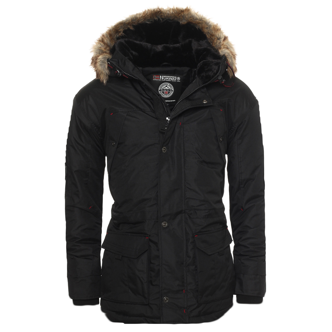 geographical norway anaconda abiosaure herren winter jacke parka parker ebay. Black Bedroom Furniture Sets. Home Design Ideas