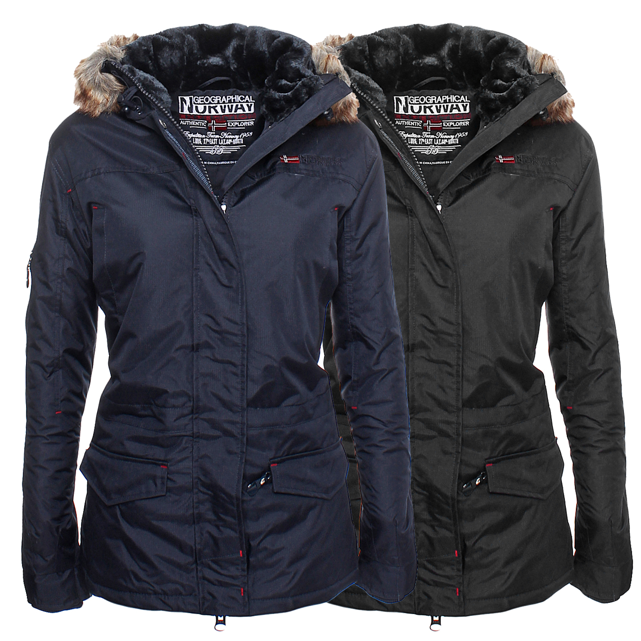 Geographical Norway Lady Winter Jacke Parka Outdoor Damen ... ff35f2d2d6