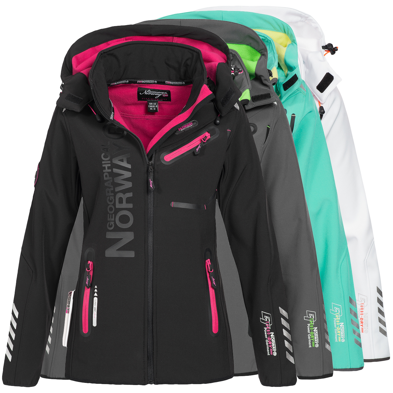 geographical norway r veuse lady sp612f gn ladies softshell jacket ebay. Black Bedroom Furniture Sets. Home Design Ideas